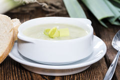 Portion of Leek Soup royalty free stock photography