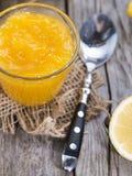 Portion of Lemon Jam Stock Photography