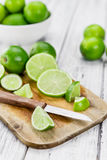 Portion of Lime Slices Stock Image