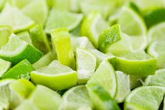 Portion of Lime Slices Stock Photos