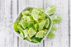 Portion of Lime Slices Royalty Free Stock Image