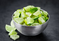 Portion of Lime Slices Stock Photo
