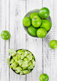 Portion of Lime Slices Royalty Free Stock Photo