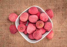 Portion of Lychees Stock Photography