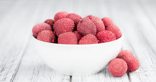 Portion of Lychees Stock Photo