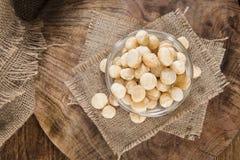 Portion of Macadamia nuts Royalty Free Stock Photo