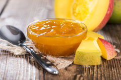 Portion of Mango Jam Royalty Free Stock Images