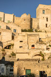 Portion of Matera rocks Royalty Free Stock Photo