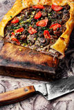 Portion meat pie Stock Image
