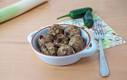 Portion of meatballs Royalty Free Stock Photo