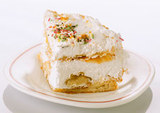 Portion of meringue pie on plate Royalty Free Stock Photos