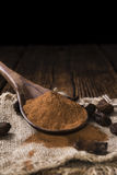 Portion of milled Cola Nut Stock Image
