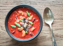Portion of minestrone soup Royalty Free Stock Photo