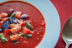 Portion of minestrone soup Stock Photography