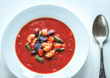 Portion of minestrone soup Royalty Free Stock Photos