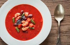 Portion of minestrone soup Stock Image