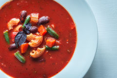 Portion of minestrone soup Royalty Free Stock Image