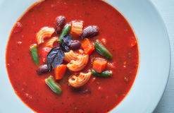 Portion of minestrone soup Royalty Free Stock Images