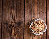 Portion of mixed nuts (roasted and salted) Stock Photos