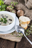 Portion of Mushroom Soup Stock Photography