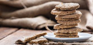 Portion of Oat Cookies Stock Photos
