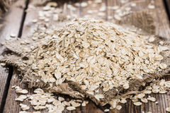 Portion of Oatmeal Stock Photo