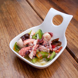 Portion of octopus salad Royalty Free Stock Photos