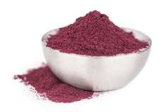 Free Portion Of Fresh Made Blueberry Powder Isolated On White Backgro Stock Photography - 100902772