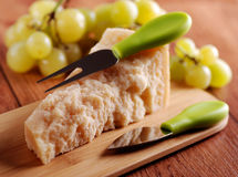 Portion of parmesan cheese Royalty Free Stock Photography