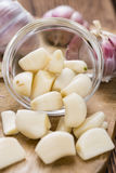Portion of peeled Garlic Stock Photography