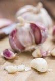 Portion of peeled Garlic Royalty Free Stock Image
