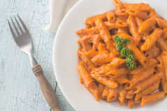 Penne Alla Vecchia Bettola pasta Royalty Free Stock Images
