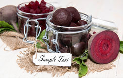 Portion of pickled Beetroot Royalty Free Stock Images