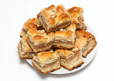 Portion pie with apple filling Royalty Free Stock Photos