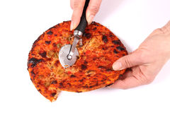 Portion of pizza. Stock Photos