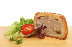 Portion of pork pie Royalty Free Stock Images
