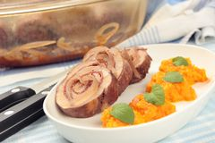 Pork roulade Stock Photos