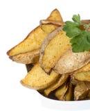 Portion of Potato Wedges on white Royalty Free Stock Photo