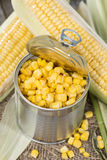 Portion of preserved Sweetcorn Stock Photos