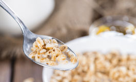 Portion of puffed wheat Stock Images