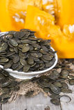 Portion of Pumpkin Seeds Royalty Free Stock Photography