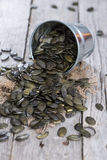 Portion of Pumpkin Seeds Royalty Free Stock Photo