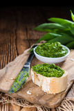 Portion of Ramson Pesto Royalty Free Stock Photos