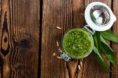 Portion of Ramson Pesto Royalty Free Stock Image