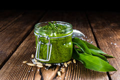 Portion of Ramson Pesto Stock Photo