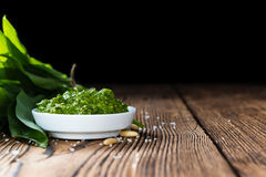 Portion of Ramson Pesto Royalty Free Stock Images