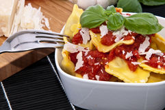 Portion of Raviolis in a bowl Royalty Free Stock Image