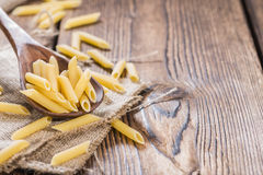 Portion of Raw Penne Stock Photo