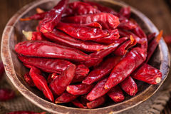 Portion of red Chillis Royalty Free Stock Photo