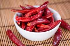 Portion of red Chillis Stock Photography